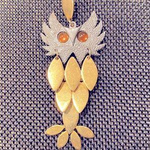 70s Vintage Owl Pendant